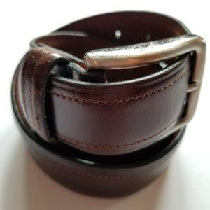 dockers genuine leather brown belt size 32